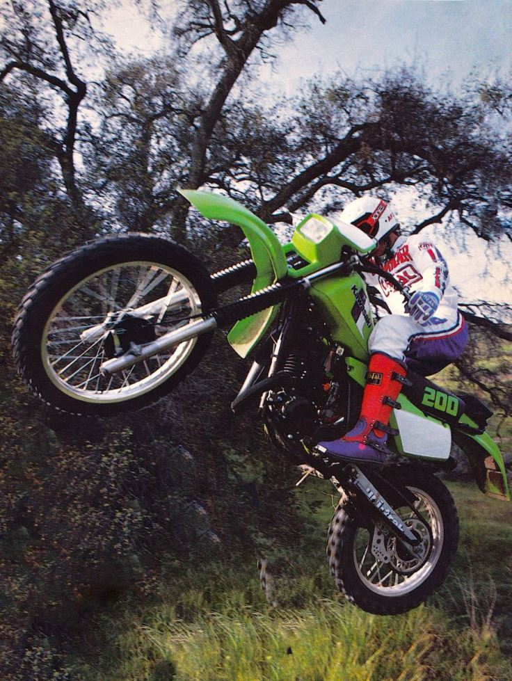 The History Of Kawasaki's KDX175 & KDX200 Models 1980-2006 – The