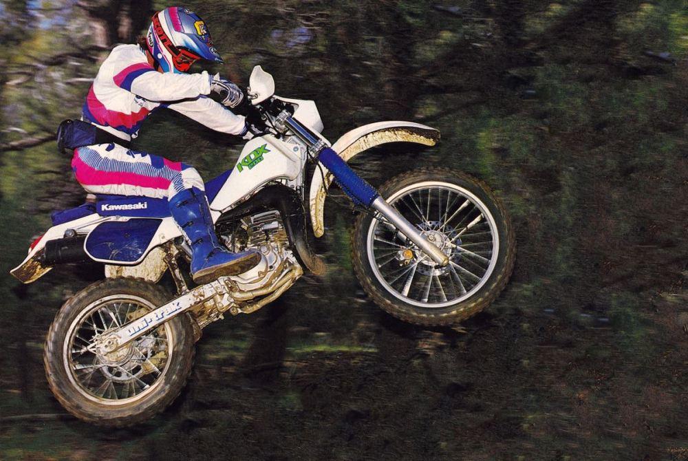 1988 Willy Simons on the Kawasaki KDX200 - Karel Kramer Photo