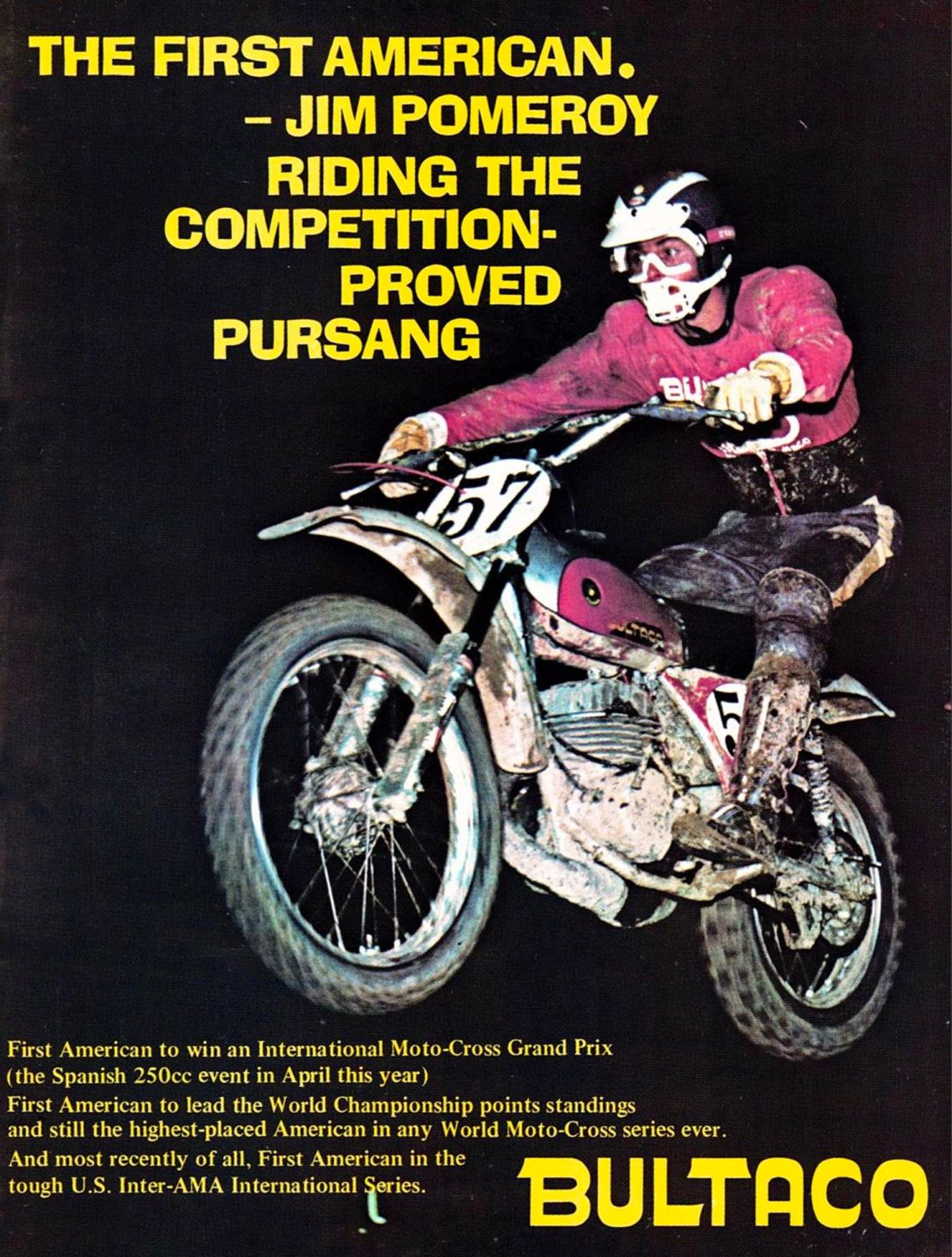 1974 Bultaco Jim Pomeroy Ad