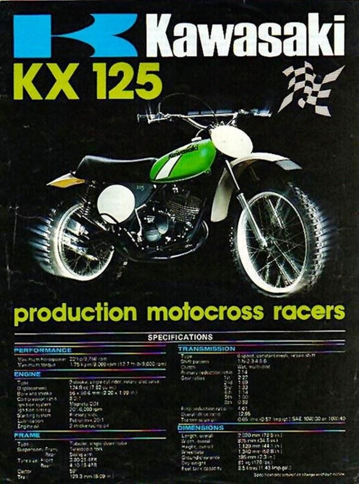 1974 Kawasaki KX125 Brochure