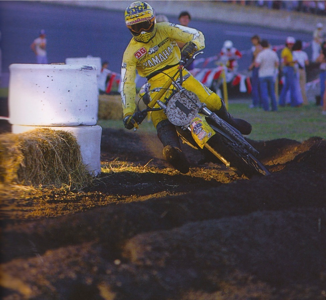 1979 Daytona Bob Hannah on his way to another Supercross title - Dick Miller pic