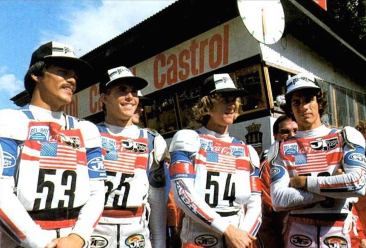 1981 MXDN Team Chuck Sun, Danny LaPorte, Johnny O'Mara and Donnie Hansen