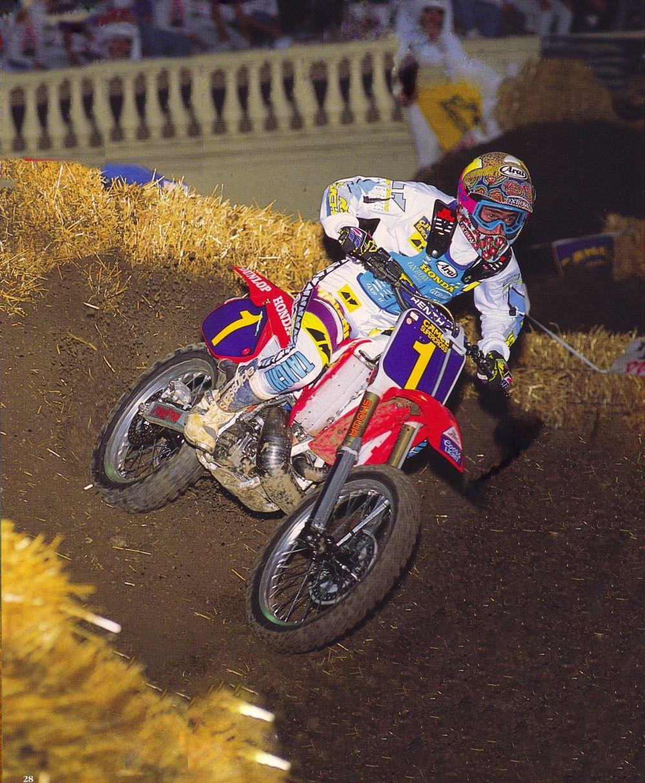 1992 San Jose Supercross Jean-Michel Bayle - Jeff Ames Photo