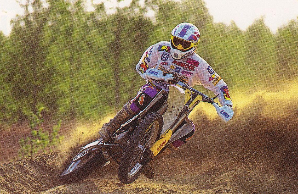 1993 Jackey Martens on hos works Husky 560 - Luc Verbeke pic